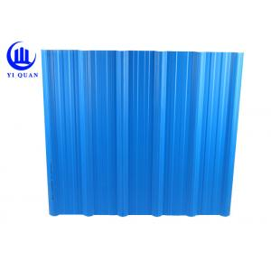 China Plastic Two Layers Blue Color Corrugated Plastic Roof Panels 920 Mm Width on sale