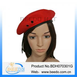 e8275306c4f7a Red Wool Military Beret Hat with Eyelets For Men for sale – beret ...