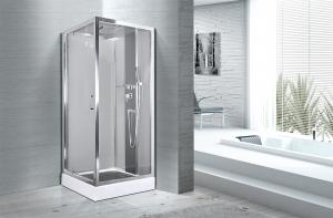 China Square 900 X 900 Bathroom Shower Cabins White ABS Tray Chrome Profiles on sale