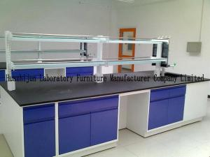 China Movable Lab Island Bench 1.0mm Steel Material With Emergency Eyewasher on sale