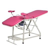 Good quality  pink color  Medical Obstetric Bed ,Manual Gynaecology Examination Table