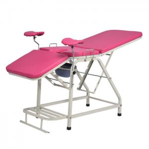 China Good quality  pink color  Medical Obstetric Bed ,Manual Gynaecology Examination Table on sale
