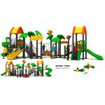 Classic Outdoor Custom Playground Equipment , Climbing Frame With Slide EN1176 Certified