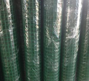 China Weld Heavy Gauge Wire Mesh Fencing Green Wire Fencing Roll Carbon Steel Materials on sale