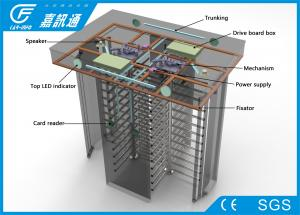 China Automatic / Hand - Push Full Height Turnstile Gate Channel Width 550 - 600mm 25 Persons / Min on sale