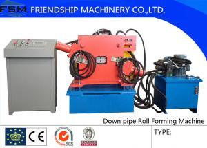 China el acero de 0.5-1.0m m ThicknesColor abajo instala tubos el rollo que forma el material de aluminio de la bobina del uso de la máquina, con la máquina del codo y Decoiler on sale