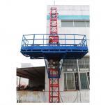 Personalizada rojo única elevación mástil escalada plataforma de trabajo para la construcción de mantenimiento de limpieza