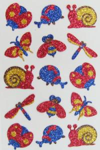 China Cartoon Glitter Foam Stickers For Crafts Arts Silk Screen Printing Eco Friendly on sale