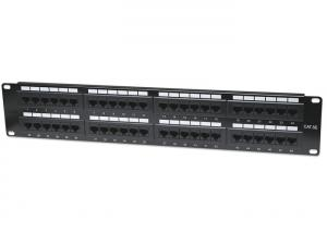 China RJ45 Connector Network Rack Patch Panel , CAT5E Server Cabinet Patch Panel on sale