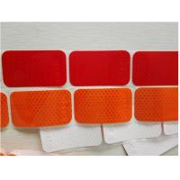 Segmented Reflective Conspicuity Tape , Solid Red Amber Reflective Sticker Custom Printed SAE