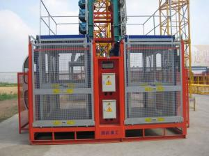China 2t Electric construction hoist elevator 50m with Pinion / rack Sling for 10 ~ 15 perons load on sale