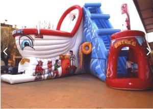 China Customized Waterproof Commercial Inflatable Slide For Kids Playing on sale