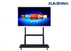 China 3840x2160 Ultra HD 84Inch Interactive Touch Screen Kiosk With Wheel Stand on sale