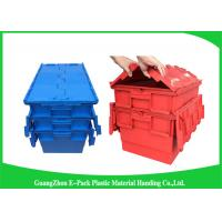 Plastic Storage Attach Lid Containers 600 * 400mm Assorted Height