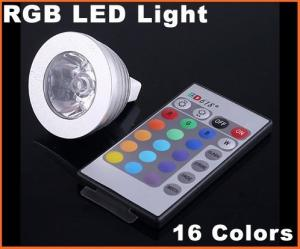 China DC12V 3W MR16 RGB 16 Colors Energy-saving remote controlled LED Light Bulb on sale