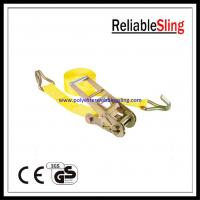 China 3 / 4 x 30ft Truck ratchet tie down straps with Wire Hook B.S. 15000LBS / 16200LBS on sale