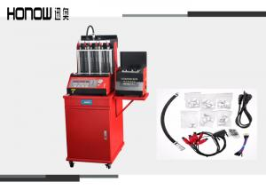 China Red Fuel Injector Tester And Cleaner , Auto Gasoline Fuel Injector Cleaning Machine on sale