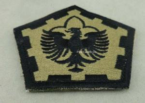 China The Pentagon Clothes Patches Badges , Custom Embroidery Patches With Velcro on sale
