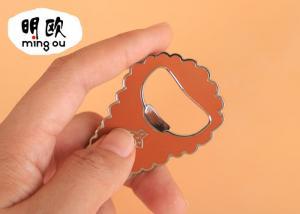 China Unique Finger Beer Bottle Openers Zinc Alloy Key Tag Shape With Hard Enamel on sale