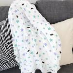 Breathable 120*120 cm 100% cotton muslin swaddle for baby lightweight