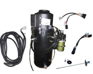 China 20 KW 12V Black Oil Filled Diesel Bus Heater With Atomizer System on sale