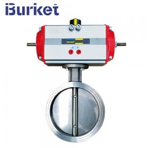 China Pneumatic  Stainless steel seat wafer connection butterfly valve on sale