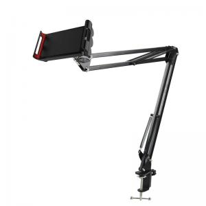 China Tablet Holder Double Braced Arms 60cm Tripod Mic Stand on sale