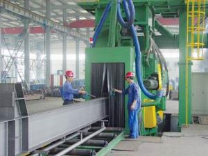 China H Beam Steel Plate Profile Through Type Shot Blasting Cleaning Machine on sale
