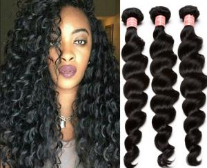 China Full Cuticles Pure Virgin 100% Brazilian Curly Weave Double Drawn on sale