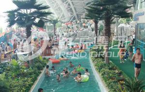 China Air blower Material Water Park Lazy River Swimming Pool 3m-6m Width 1m Depth / Customized Water Slide on sale
