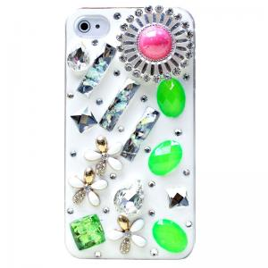China Fashionable Crystal Embellished Diamond 3D Phone Case for iPhone 4/4S/5 on sale