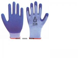 China 10G TC gloves Latex coated crinkle,protective work glove,glove,gloves,protected glove,coated,dipped on sale