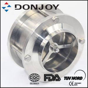 China Three Piece Welding Hydraulic Pneumatic Check Valve For Beverage / Wine / Oil on sale