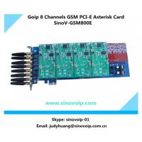 China 8 GSM Channels PCI Express Goip Asterisk Card on sale