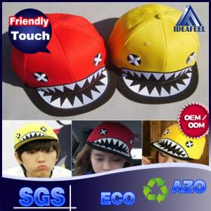 China Colorful Flat Brim Baseball Cap For Children Monster Raised Embroidered Logo on sale