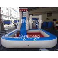 PVC Water Inflatable Pool Slides For Inground Pools , Inflatable Kids Games