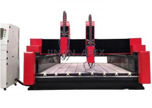 China Glass / Stone CNC Router Machine Seamless Welded Steel Structure Water Cooling Spindle on sale