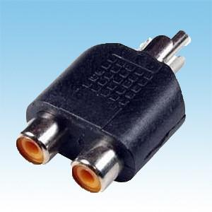 China RCA Male to 2 Female Connector on sale