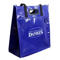 Deep Blue PP Woven Shopping Bags Eco-friendly Material
