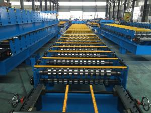 China 25 Stations Roof Panel Roll Forming Machine Coil Width 1000mm High Productive on sale