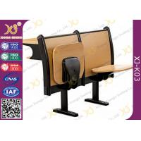 Double Person College School Desk And Chair, Wood Campus Bench And Table For Sudent