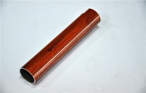 China Standard Extrusion Wood Grain Aluminium Tube Temper T4 T5 T6 Alloy 6063 on sale