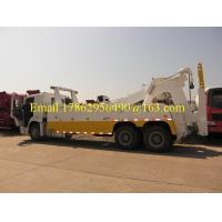 China One Bed 6x4 HW76 Cab Road Wrecker Truck With Air Conditioner ZZ1257N5847W on sale