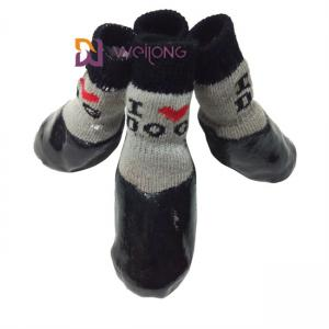 China Waterproof Pet Socks With Straps Rubber Sole Gripper Outdoor Anti Slip Dog Socks Boot on sale