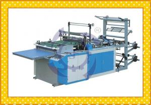 China Double Sides Hot Sealing Hot Cutting Plastic Bag Making Machine With Servo Motor on sale