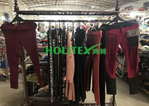 China Colorful Used Winter Clothes A70-W-LCP Second Hand Skinny Pants For Ladies on sale