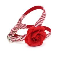 China Cute Flower Dog Collars And Leashes Perfect Fit Harness With Safety Hooks on sale