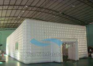 China Damp Proof Event Inflatable Cube Marquee Big White Party Canopy Tent on sale