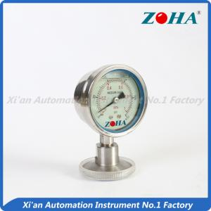 China Hygeian Diaphragm Pressure Gauge , Rectangle Flanged Pressure Gauge on sale