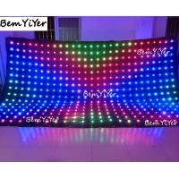A3518/Pitch18cm  3X5M led video curtain/motion drape/cortina/screen/panel/dmx512/remote/sd/dj backdrop/wedding drape